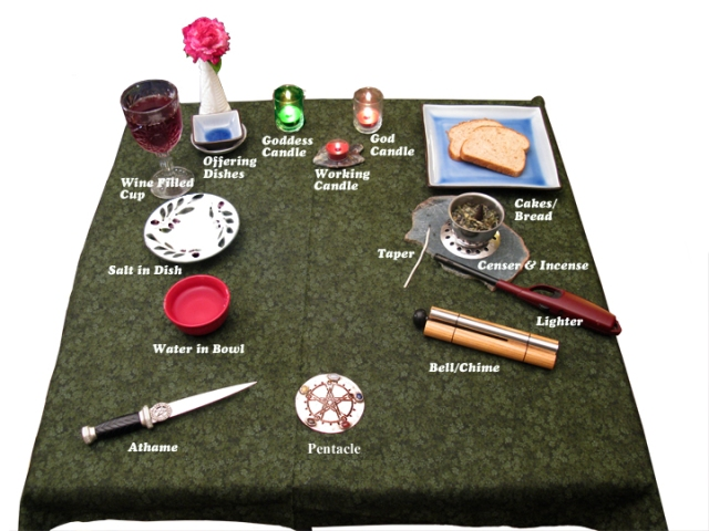 An Example of a Wiccan Altar
