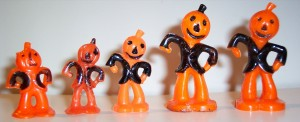 Vintage Plastic Halloween Pumpkin Men by riptheskull