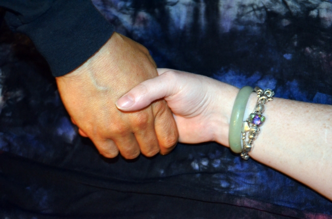 Hands of different color