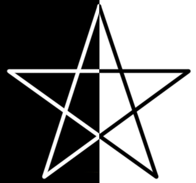 Black and White Pentacle